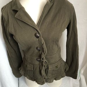 Anthropologie Nick & Mo Cardigan Military Jacket